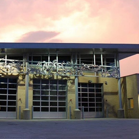 Dallas Fire Station #42 achieved LEED NC 2.2 Gold certification and incorporates numerous sustainability features, including energy-efficient cooling, energy recovery units, low-flow plumbing fixtures and more.  TLC provided MEP/FP and energy modeling.