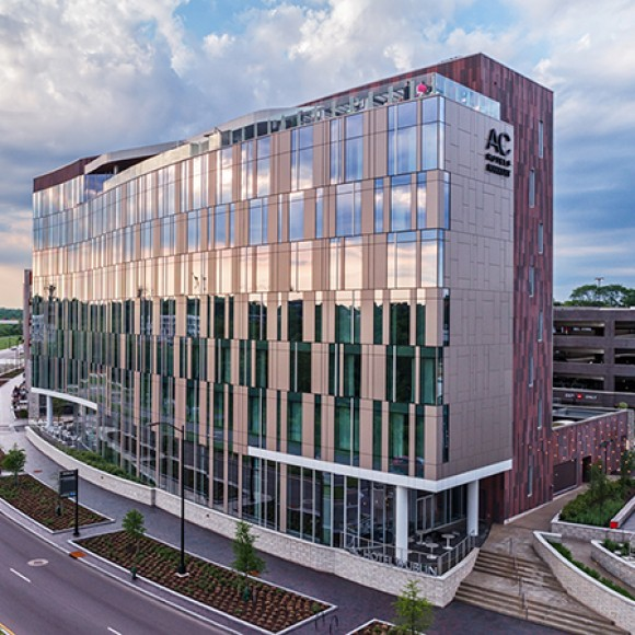 AC Hotel By Marriott Columbus Dublin - This 104,000 sq. ft. hotel was designed to meet the image of the Marriott International, Inc. brand as part of a larger mixed-use development.