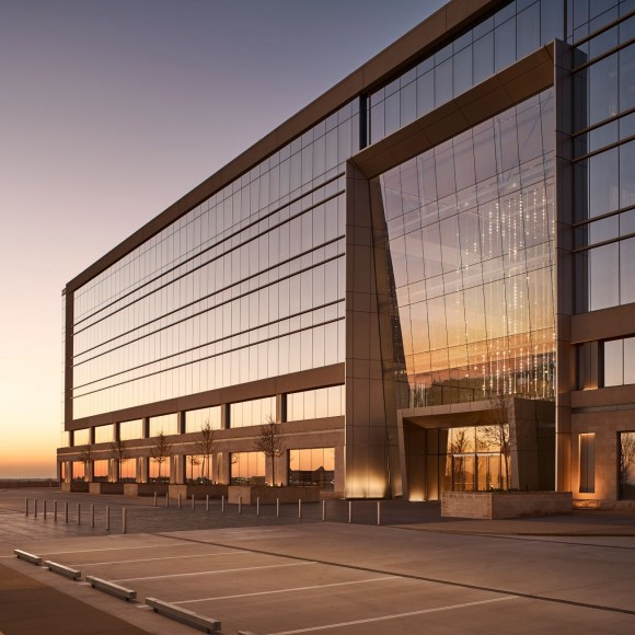 The Dallas Cowboys World Headquarters is a multi-tenant building branded to the Dallas Cowboys experience and is designed to be integrated with the adjacent plaza and training facility. The 300,00 square foot Headquarters is a part of The Star in Frisco, a 91-acre, multi-use development located approximately 30 miles north of Dallas. - Ryan Gobuty Ryan Gobuty
