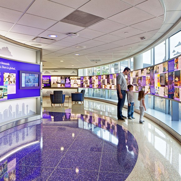 Children's Medical Center Dallas - Centennial Lobby Renovation in Dallas, Texas © Chad M. Davis, AIA. Renovation by WHR Architects.