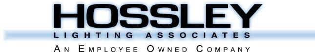 Specifications - Hossley Lighting logo