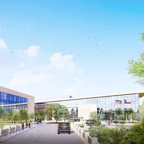 Turtle Creek Offices-  A new 150,000 square-foot build-to-suit office structure. The program includes office space, museum space, a cafeteria, event space, and meeting rooms. The