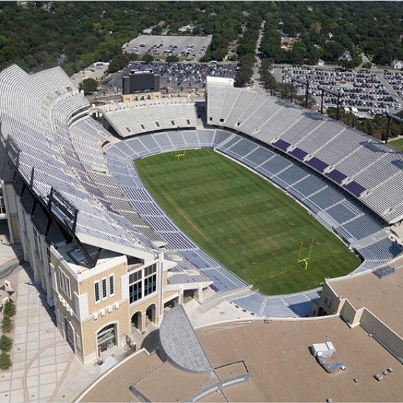 Texas Christian University Stadium Renovation- The renovation includes demolition of the existing west upper seating bowl, and the 548,000-square-foot addition of two new