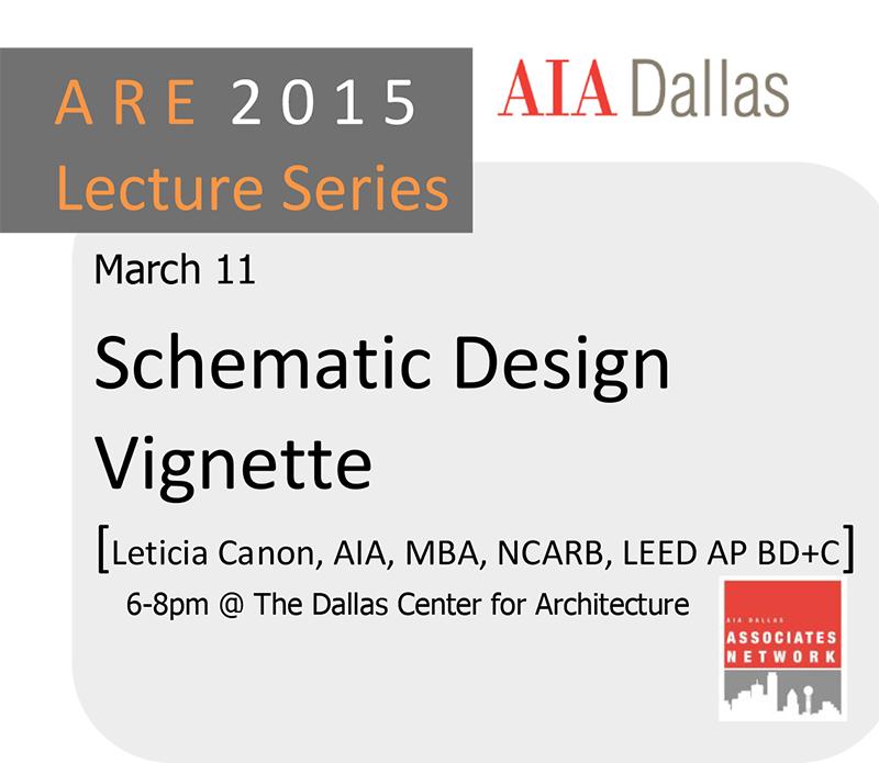 Are lecture series schematic design vignette aia dallas for Schematic design interior layout vignette