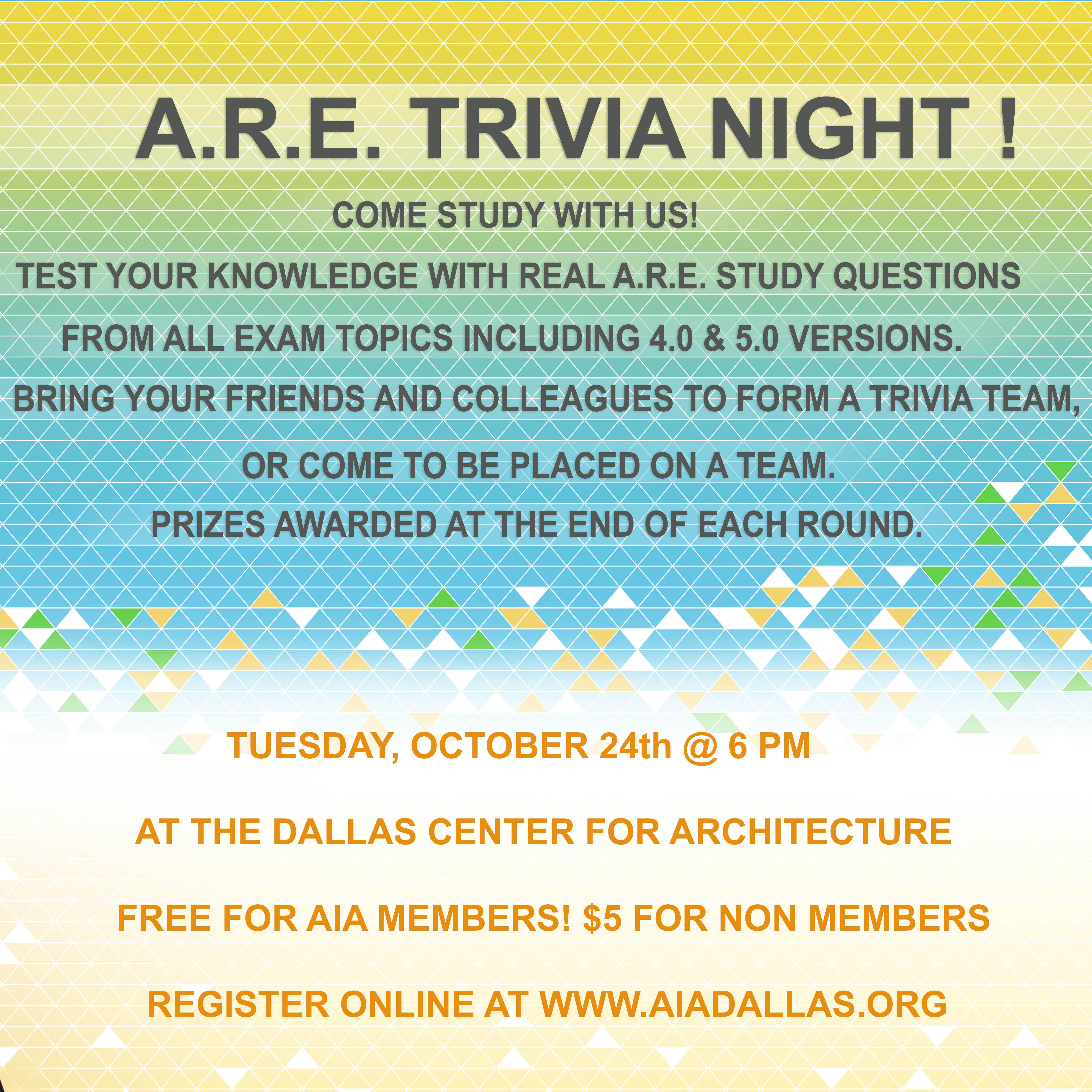 A.R.E. Trivia Night!
