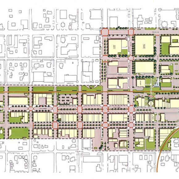 LRK led a team of five sub-consultants in a master planning and streetscape improvement process to revitalize downtown Bryan, located near College Station and Texas A&M.  Comprehensive in nature, the plan focused on attracting faculty, administrators and students to live, work and play in the downtown area by creating a more engaging district.  A streetscape improvement plan was a key part of the work, emphasizing the development of a pedestrian friendly streetscape and inviting community interaction.