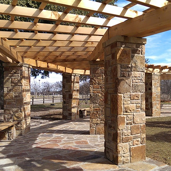 Kiest Park Pergola Restoration, Dallas