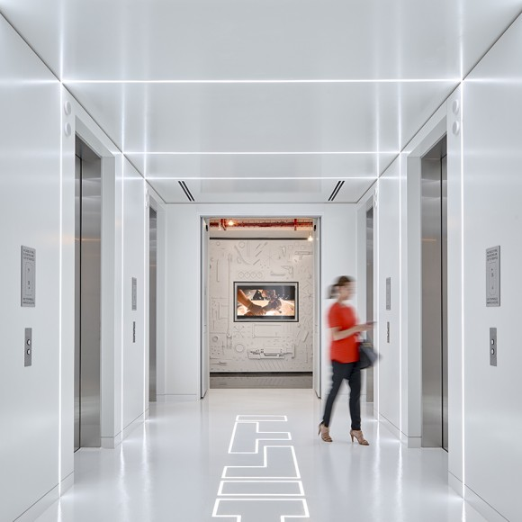The new Corporate Headquarters for Hilti North America is designed to celebrate the power of its people and products. Seeking to attract top talent and future leaders, the office takes into account the diversity of its employees' needs by providing a variety of amenities that contribute towards creating the perfect workplace. Ryan Gobuty